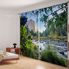 3D Mountains River Blockout Photo Curtain Printing Curtains Drapes Fabric Window