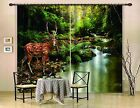 3D River Deer 72 Blockout Photo Curtain Printing Curtains Drapes Fabric Window