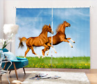 3D Lawn Horses 201 Blockout Photo Curtain Printing Curtains Drapes Fabric Window