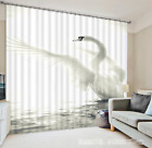 3D Lake Swan 231 Blockout Photo Curtain Printing Curtains Drapes Fabric Window