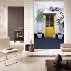 3D White walls, yellow window Wall Paper Wall Print Decal Wall Deco AJ WALLPAPER