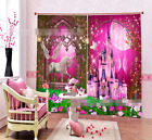 3D Castle Horse Blockout Photo Curtain Printing Curtains Drapes Fabric Window AU