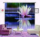 3D Water Lily 5 Blockout Photo Curtain Printing Curtains Drapes Fabric Window AU