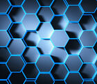 3D Blue honeycomb 1 WallPaper Murals Wall Print Decal Wall Deco AJ WALLPAPER