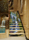 3D mountain water stairs Risers Decoration Photo Mural Vinyl Decal Wallpaper CA