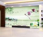 3D Lakeside, flowers 3 Wall Paper Wall Print Decal Wall Deco Indoor wall Murals