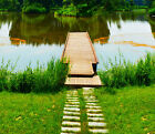 3D Grassland Path River Floor WallPaper Murals Wall Print Decal 5D AJ WALLPAPER
