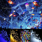 UK 100-500 LEDs Solar Power UK Plug String Lights Yard Fairy Weeken Event Lights