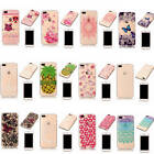For iPhone 7 Plus Lovely Bumper Clear Deluxe Rubber TPU Silicone Case Cover Skin