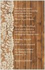 30 50 80 100 130 Ecru LACE ON WOOD Personalized COUNTRY WEDDING Invitation 6X9