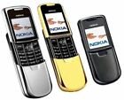Nokia 8800 - Silver/Black/Gold - Unlocked Cellular Cell Phone W/ Gift Dock