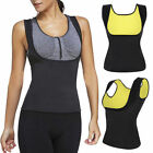 Push Up Neoprene Womens Slimming Vest Sweat Body Shaper Shirt Sauna Tank Top CN