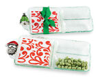 Gift GLASS SECTION SERVER SET WITH NAPKINS Holiday Hostess 126016