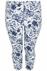 YoursClothing Plus Size Womens Ladies Bottom Floral Print Jeggings