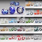5pcs/10pcs Murano Glass Beads European Charm Bracelet Lampwork fit 14x14x10mm