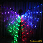 rechargeable led isis wings glow dance light up belly dancer costumes sticks bag
