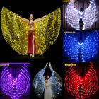 LED isis wings rechargeable 182 lights light up glow belly dance sticks bag