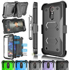 Shockproof Hard +Built-in Screen Protector Case Cover Belt Clip Holster For LG