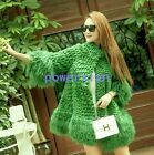 Womens Ladies Real Fur Loose Stand Collar Parka Tassel Coats Outwears Jackets