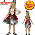 CK1030 Girls Deluxe Pirate Wench Caribbean Buccaneer Dress Book Week Kid Costume