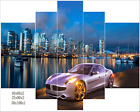 LARGE CANVAS WALL ART PRINT IMAGE PICTURE PHOTO ABSTRACT Sports car city QQ023