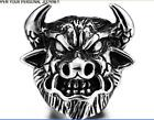 2017 Retro (never fade) 316L Titanium Steel But the king bull ring 7~13#