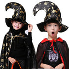 Adult Black Witch Hat Halloween Costumes Accessory Tall Crooked Velvet Witch Hat