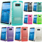 Shock Proof Impact Armor Clear Glitter Case For Galaxy S7 S8 iPhone 6 7 Plus LG
