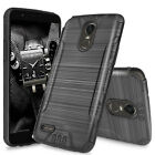 For LG Stylo 3/Stylo 3 Plus Shockproof Tough Brushed Hybrid Armor Rubber Case