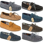 New Mens Comfort Moccasin Faux Suede Casual Lace Gents Loafers Slippers Sizes UK