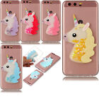 3D Unicorn Liquid Dynamic Quicksand Case Soft TPU Silicone Cover For Cell Phones