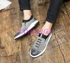 Mens Fashion Causal Shoes Slip-on Faux Suede Vogue Chic Loafers Board Walking
