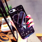 Love Heart Mirror Bling Glitter Powder Soft TPU Phone Case for iphone6 6S 7 Plus