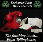 "?? ""SAVE £3"" DRAWER CARDS + DIAL LABELS SET for GPO 200 300 SERIES TELEPHONE ??"