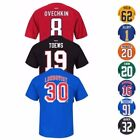 NHL Team Player Name &amp; Number Jersey T-Shirt Collection by REEBOK - Men&#039;s <br/> Available in Various Teams, Players, Colors and Sizes!