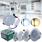 12W 7W 3W LED Ceiling Down Light Cabinet Recessed Fixture Spot Lamp+AC Driver UK