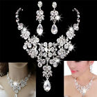 Fashion Rhinestone Necklace Earrings New Set Crystal Women Wedding Jewelry Chic