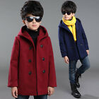 Kids Boys fashion Duffle Coats Hooded Warm Jackets Outerwear overcoat Gift
