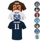 "NFL ""Eligible Receiver"" Current Player Name & # Jersey T-Shirt Collection Men's $13.49 USD on eBay"