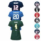 "NFL Assortment of ""Fair Catch"" Team Player Jersey T-Shirt Collection - Women's on eBay"