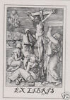 EX LIBRIS BOOKPLATE Crucifixion