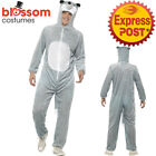 CA386 Plush Wolf Animal Mens Ladies Fancy Dress Jumpsuit Book Week Funny Outfit