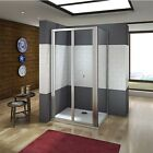 Bifold Door Shower Enclosure Walk In 5mm Safety Glass Cubicle Side Panel
