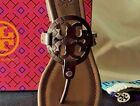 New Tory Burch MILLER SANDALS Chocolate Brown 7 7.5 8 8.5 9 9.5 10 10.5 11 NIB