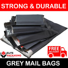 All Sizes Grey Mailing Bags Postal Postage Post Mail 6x9 10x14 12x16 17x24 60mu