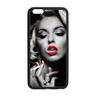 Marilyn Monroe Smoke Hot Case Cover for iPhone 8 8+ 7 Plus 6 Galaxy S8 S8+ S7 S6