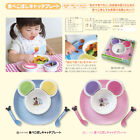 Japan Disney Baby Minnie Mouse mickey Mouse Food Catch Plate Fork Spoon Set 11R