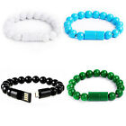 Creative 8Pin USB Data Cable Bead Bracelet Charger for iPhone Android Cell Phone