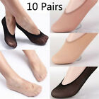 10Pairs Womens Loafer Invisible No Show Nonslip Liner Low Cut Cotton Boat SocksL