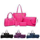 6 Pcs Women Bags Handbag Nylon Shoulder Bag Purse Tote Wallet Messenger Key Bag